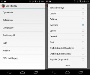 Firefox Android Beta Cymraeg